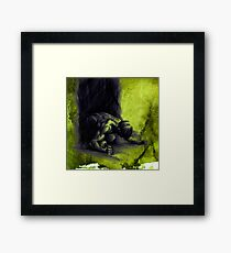 FRUSTRATION - conté drawing with overlay Framed Print