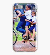 Happy children in Cambodia iPhone Case/Skin