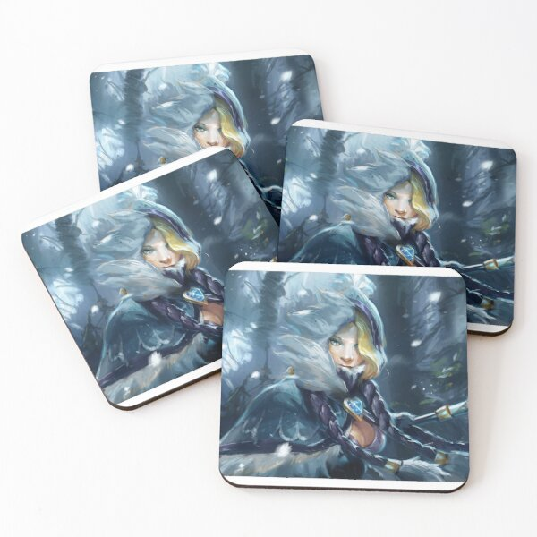 Crystal Maiden Dota 2 fanmade artwork Coasters (Set of 4)