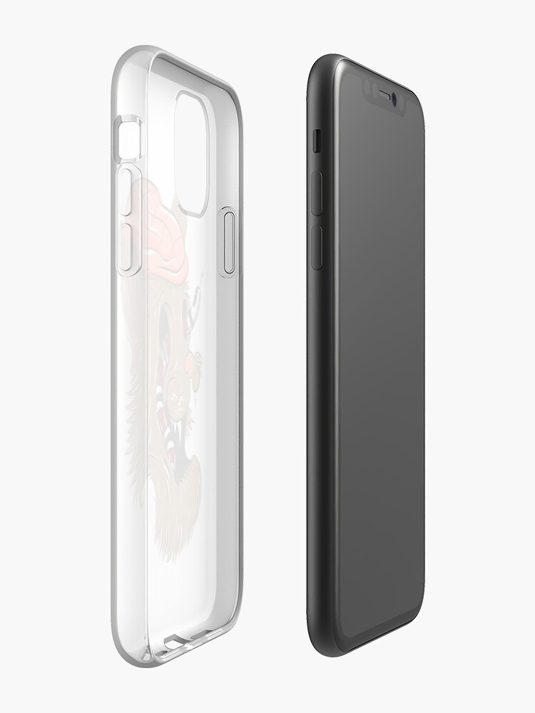 Coque iPhone « Chat sans esprit », par Eitkev