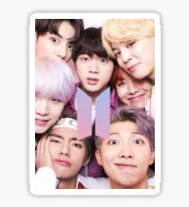 Pegatina BTS Group PHOTO Case / Poster ECT (Selfie) con logotipo
