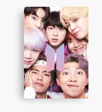 BTS Group PHOTO Case / Poster ECT ( Selfie ) With Logo 2018 Canvas Print