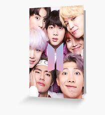 BTS Group PHOTO Case / Poster ECT ( Selfie ) With Logo 2018 Greeting Card