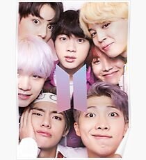 Póster BTS Group PHOTO Case / Poster ECT (Selfie) con logotipo