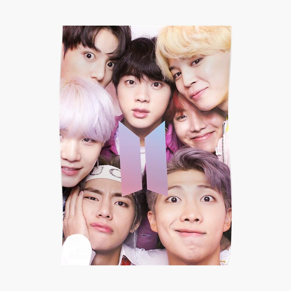 BTS Group FOTO Case / Poster ECT (Selfie) mit Logo Poster