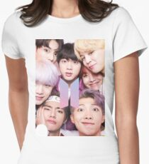 Camiseta entallada para mujer BTS Group PHOTO Case / Poster ECT (Selfie) con logotipo