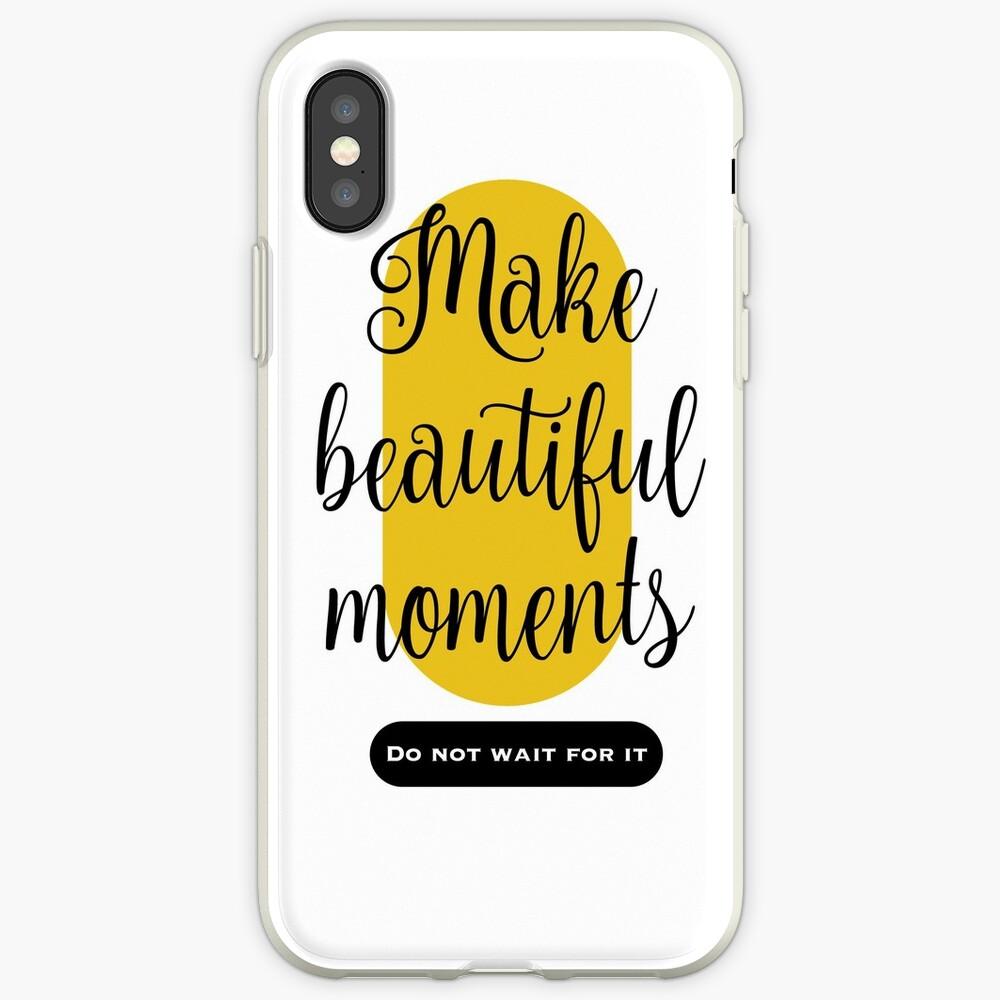 Make beautiful moments Camisetas Vinilos y fundas para iPhone