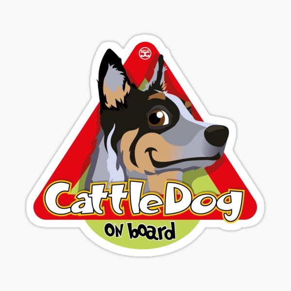 Cattle Dog On Board - Blue Sticker