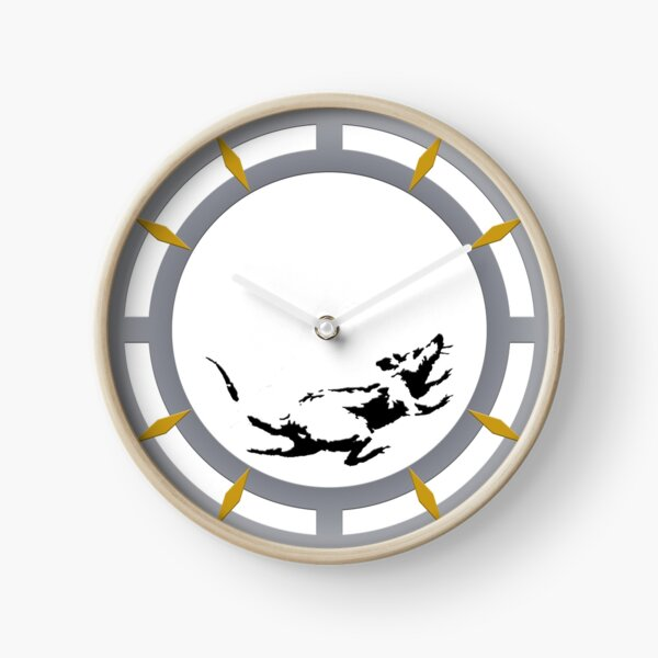 Banksy Rat Clock Inspired Clock Clock