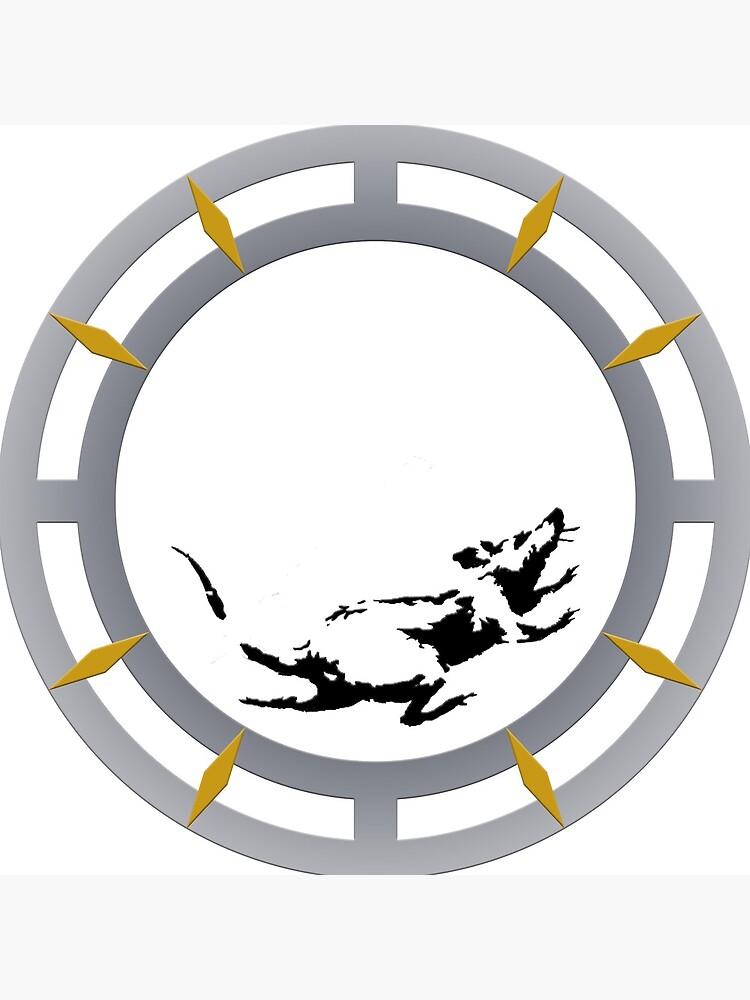 Reloj inspirado en el reloj de raton Banksy de ThatMerchStore