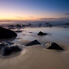 Sunset over Tea Tree Bay by David de Groot
