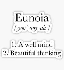 Eunoia Definition Sticker