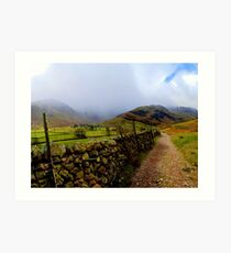 The Path to Mickleden Art Print