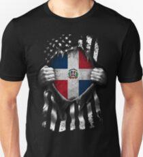 02c33ea8d Dominican American Flag USA Dominican Republic Slim Fit T-Shirt