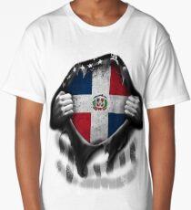 Dominican American Flag USA Dominican Republic Long T-Shirt