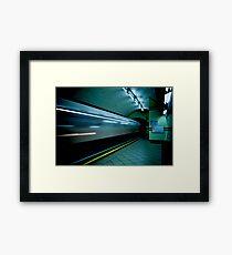 Gotham Train Framed Print