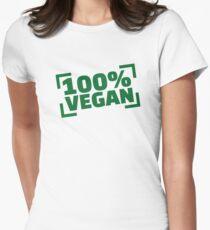 100% Vegan Women's Fitted T-Shirt