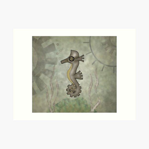 Sir Angustus Finn - Nautical Steampunk Seahorse Art Print