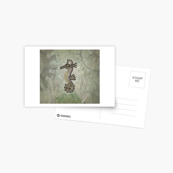 Sir Angustus Finn - Nautical Steampunk Seahorse Postcard