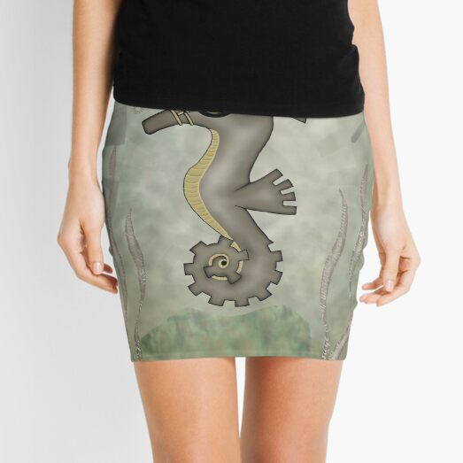 Sir Angustus Finn - Nautical Steampunk Seahorse Mini Skirt