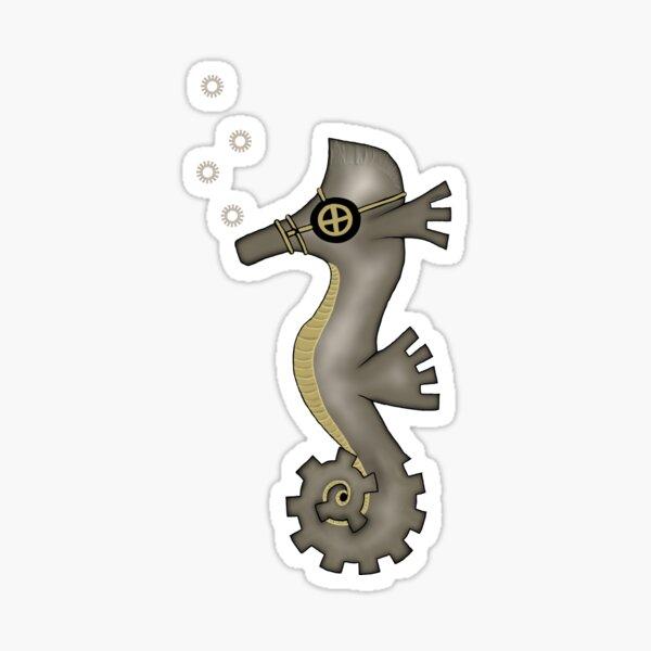 Sir Angustus Finn - Nautical Steampunk Seahorse Sticker