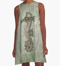Sir Angustus Finn - Nautical Steampunk Seahorse A-Line Dress