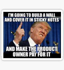 Donald Trump does Agile Sticker