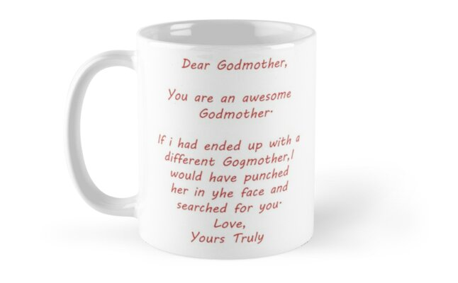 Gift For Godmother Personalized Custom Mug Funny Gifts