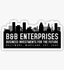 The Wire - B&B Enterprises - Black Sticker