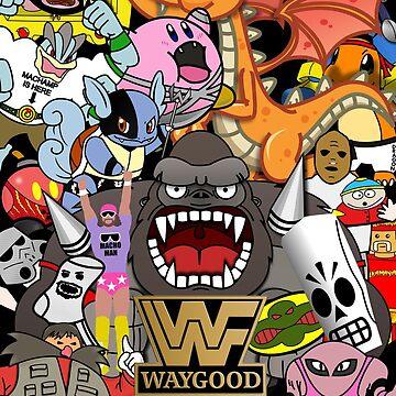 Wrestling stickerbomb by Waygood83