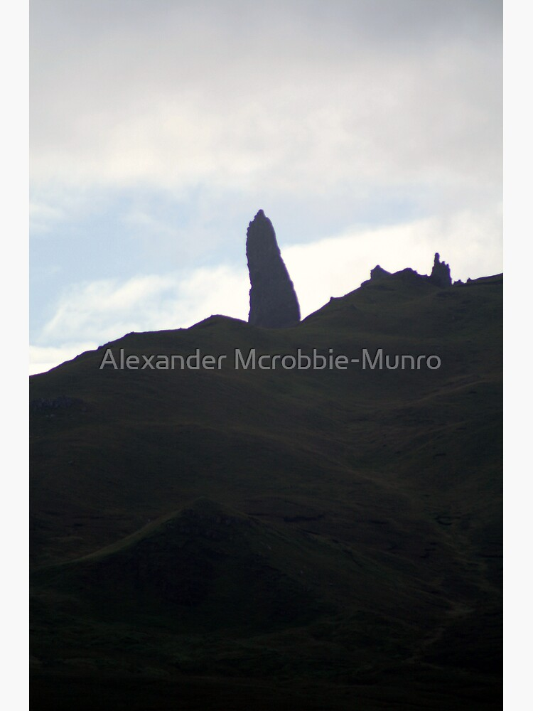 Old Man Storr Silohuette by Alexanderargyll