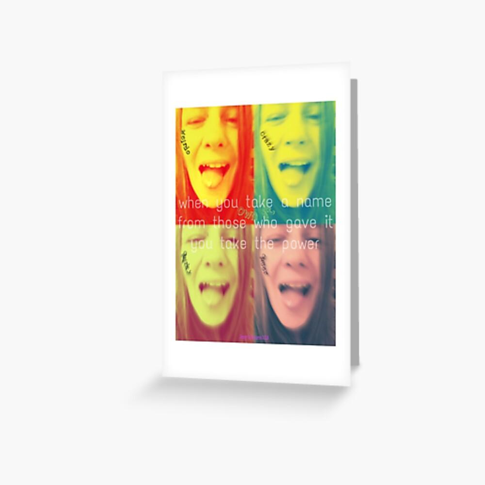 Queer Power Pop Art Greeting Card