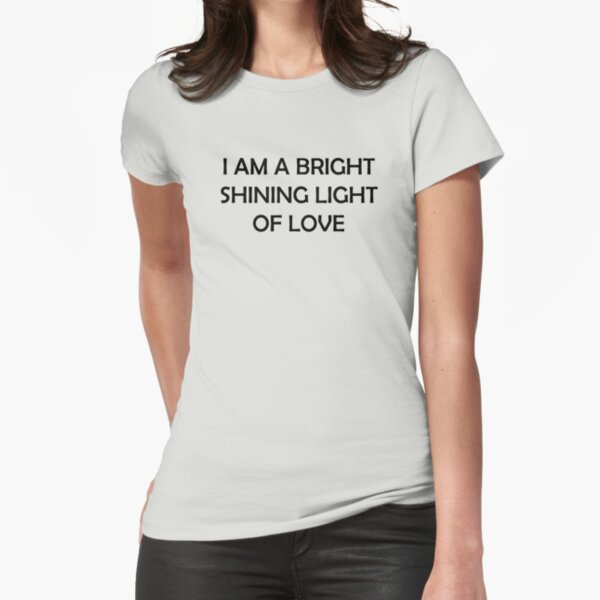 Bright Shining Light Fitted T-Shirt