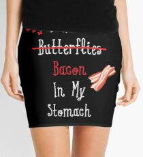 I Have (Butterflies) Bacon In My Stomach Mini Skirt
