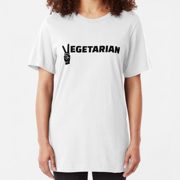 Vegetarian peace Slim Fit T-Shirt