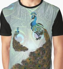 Peacock Feather Lovers Art Graphic T-Shirt