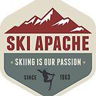Ski Apache New Mexico Skiing 2 by MyHandmadeSigns