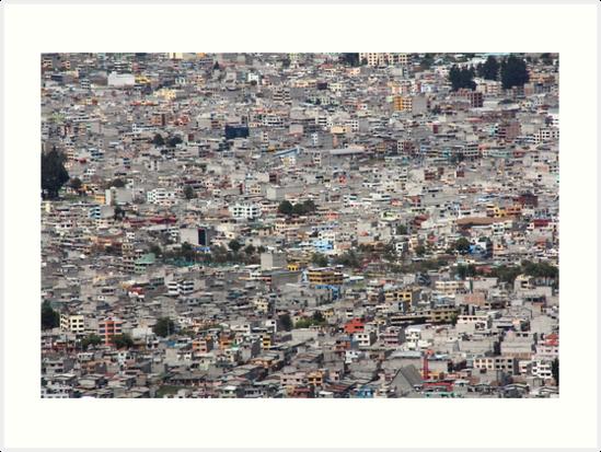 Quito, Ecuador dense urban city concrete buildings by Kendall Anderson