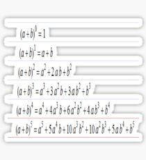 Pascal Equations, Math, Mathematics, Pascal's Triangle, треугольник паскаля, #PascalsTriangle,  #треугольникпаскаля, #PascalTriangle,  #треугольник, #паскаля, #Pascal, #Triangle, #Math, #Mathematics Sticker