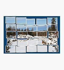 Winter Scene Divided Photographic Print