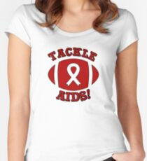 Support AIDS Awareness Design Women's Fitted Scoop T-Shirt