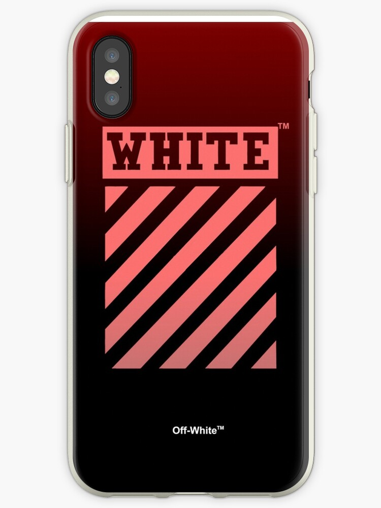 new products 7edeb cd7eb 'white off red black' iPhone Case by bedarts