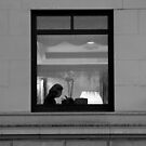 Reservation for One in B/W by Judith Oppenheimer