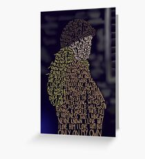 Les Miserables- On My Own Greeting Card