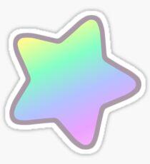 Pastel Rainbow Star Sticker Sticker