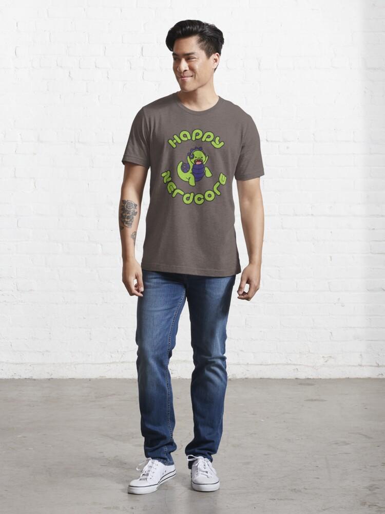 Alternate view of Happy Nerdcore Logo Essential T-Shirt