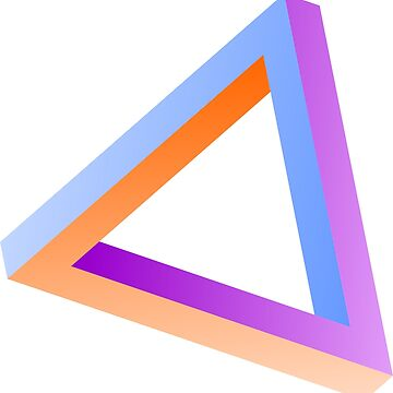 Impossible triangle visual optical illusion by dereinst