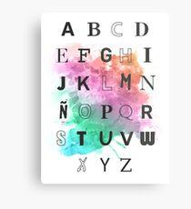 Typography Metal Print
