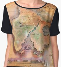 Neverland Map  Chiffon Top