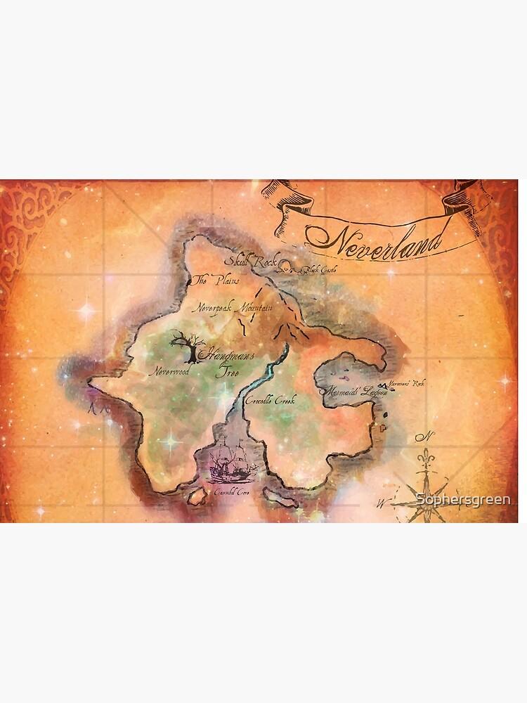 Neverland Karte von Sophersgreen